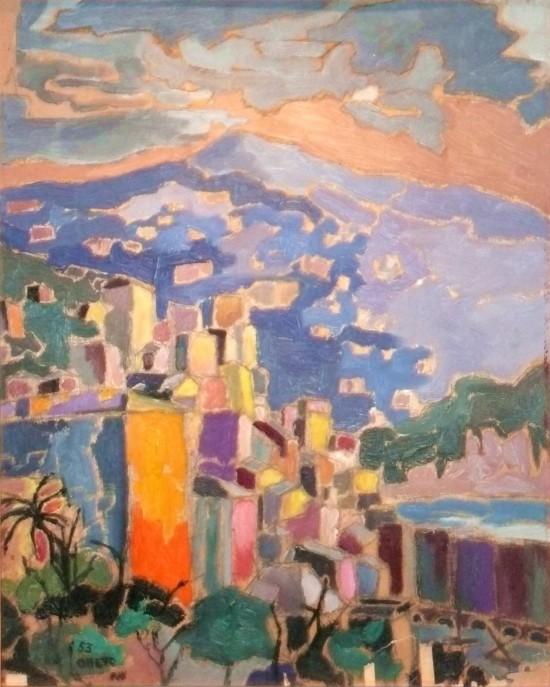 CAMOGLI - 1953 OLIO SU TAVOLA 50X40)